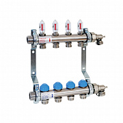 Floor heating stainless steel manifold with automatic flow control HKV2013A-AFC