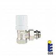 Nickel-plated thermostatic valve 178UM