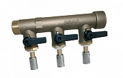 "Sanitary and heating manifold type Fc Ø27- inlet M 3/4"" - outlet to press fit integrated valves - end F 3/4"""