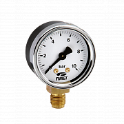 Dry pressure gauges for industrial applications